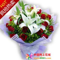 鲜花公司-静静的爱