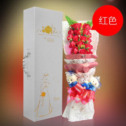 肥皂花:19朵红色香皂花礼盒