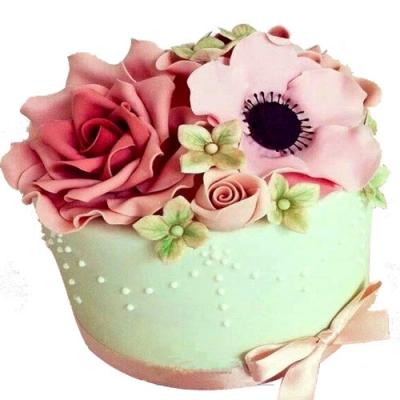 生日蛋糕:翻糖蛋糕 欲燃炽情
