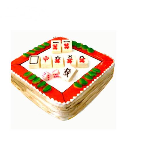 生日蛋糕:旗开得胜