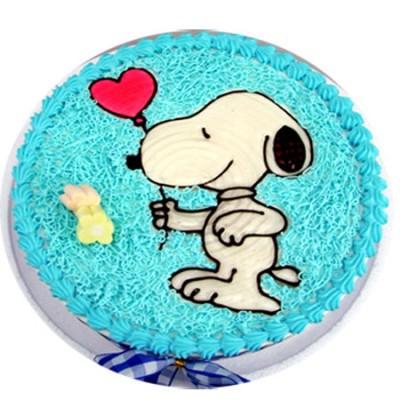 生日蛋糕:快乐小狗
